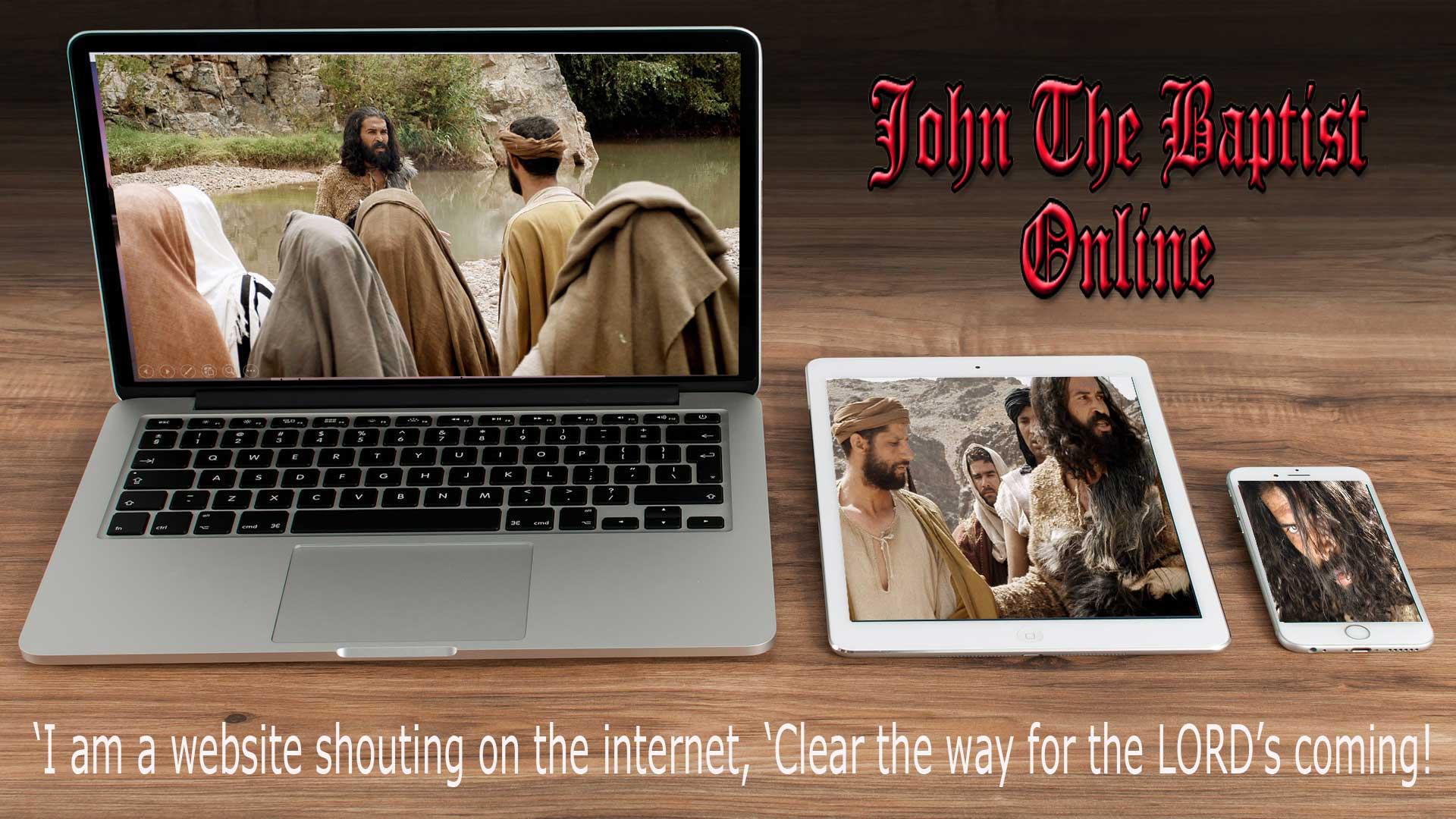 John the Baptist Online Homepage Hero Image